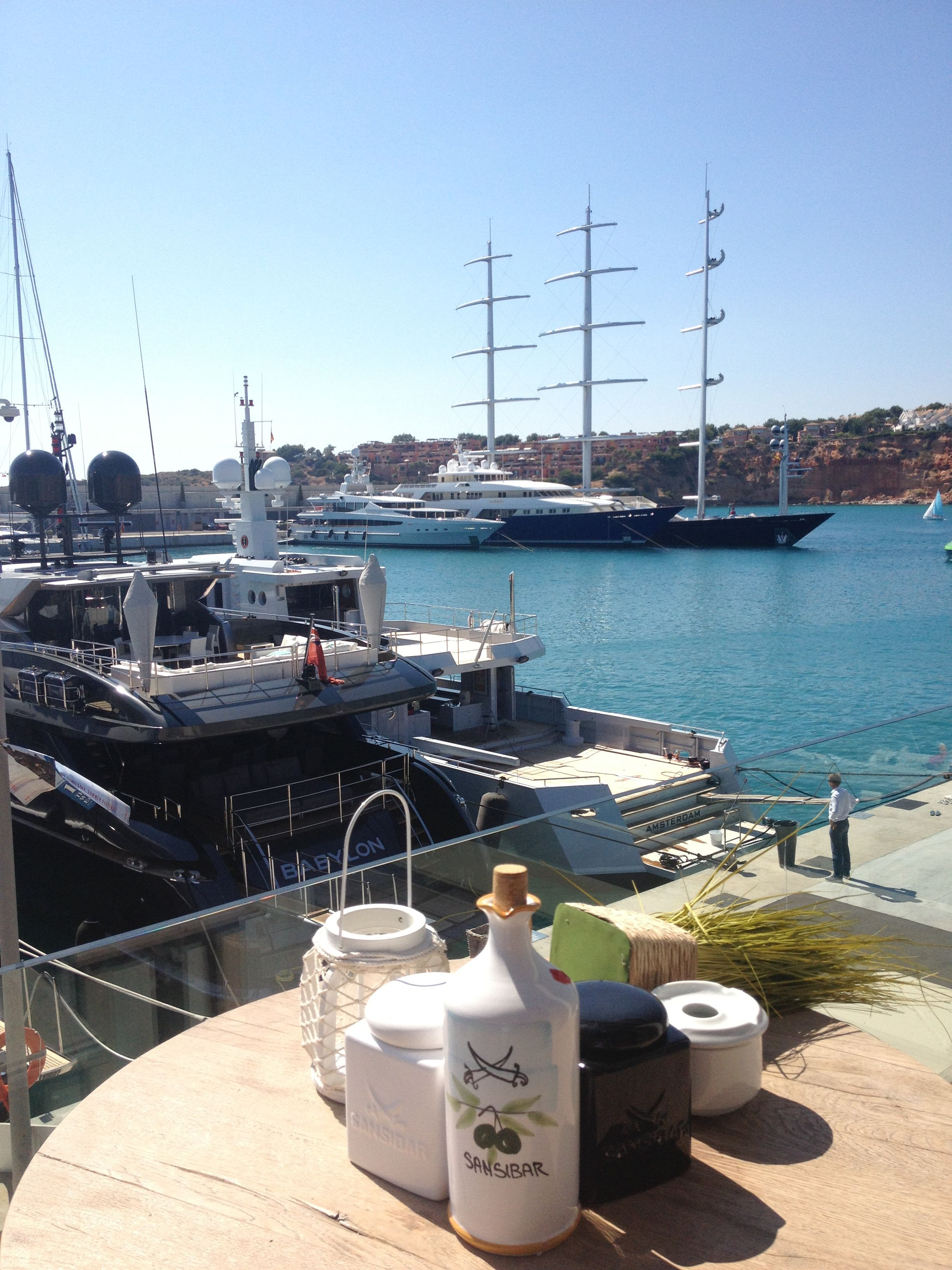 Views From The Sansibar Restaurant In Port Adriano Mallorca