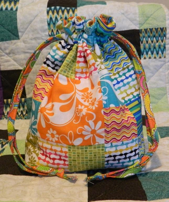 Padded Drawstring bag DIY Tutorial Video Perfect for a little ...