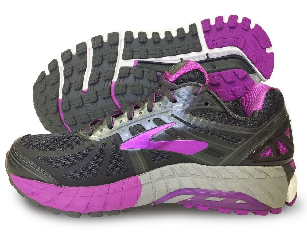b84c3def2a665 Brooks ARIEL 16 Womens 9 2E Wide Gray Purple Running Athletic Shoes EUC   170  Brooks  RunningShoes