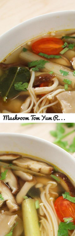 Mushroom Tom Yum Recipe (veg) ต้มยำเห็ด - Hot Thai Kitchen!... Tags ...