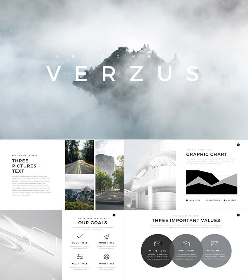 verzus minimal powerpoint template | minimal, template and ppt, Presentation templates