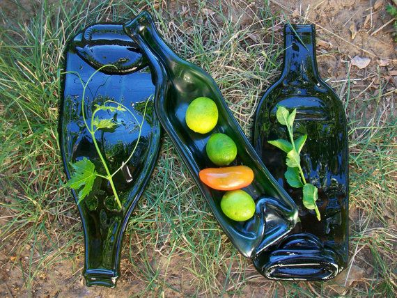 3 Piece Wine Bottle Serving Set Available in 4 by norcalartglass, $37.50