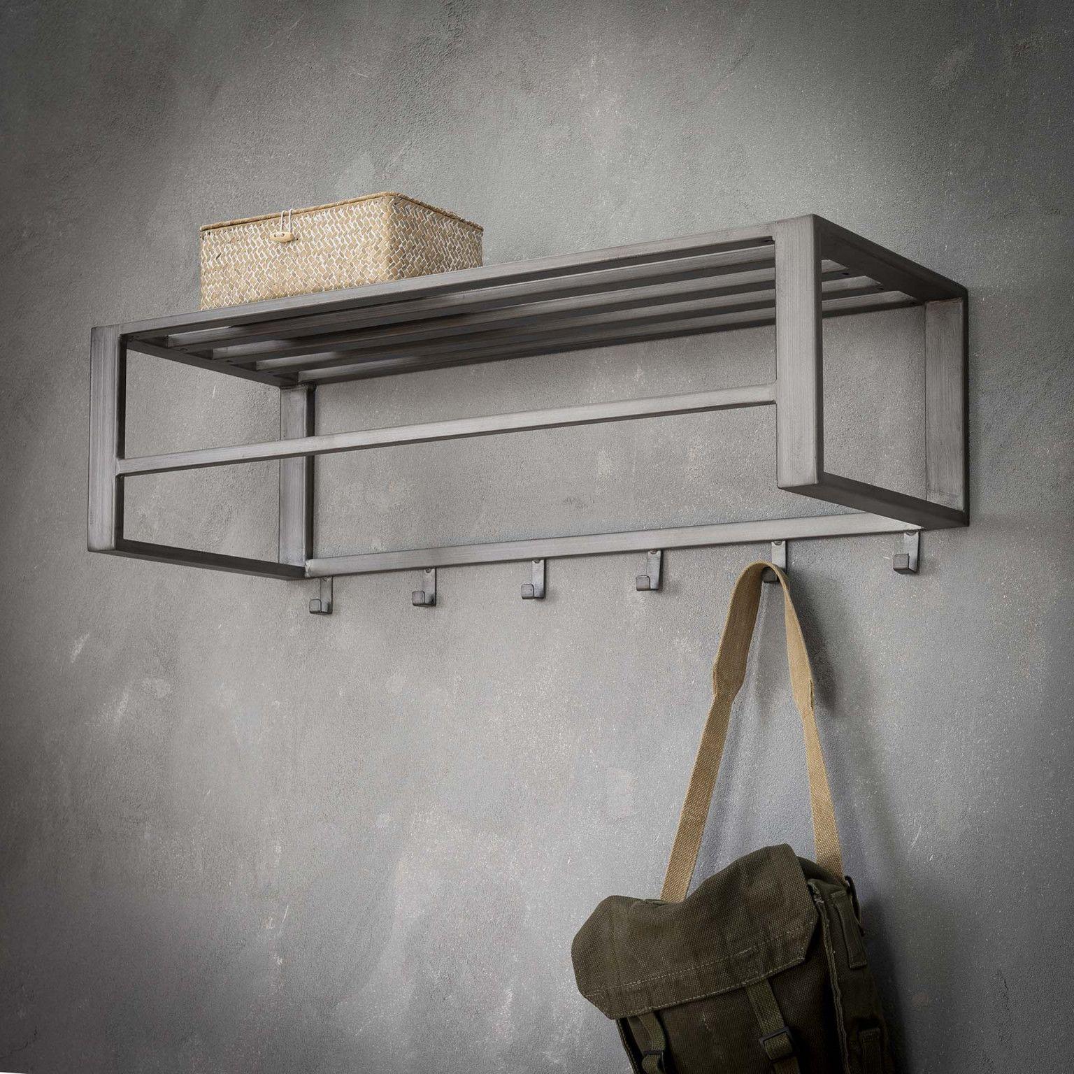 Industriele Kapstok Cher 80cm Met 6 Haken Officefurniture