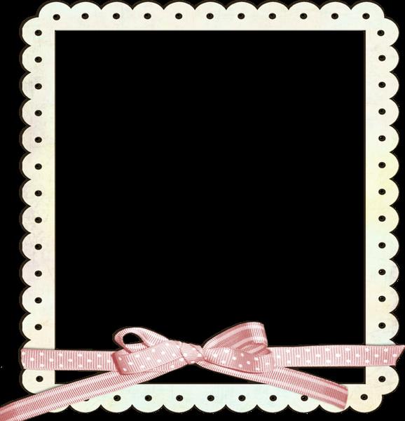 Cream transparent frame with pink ribbon scrap enfant pinterest bordure scrapbooking et - Papier autocollant transparent ...