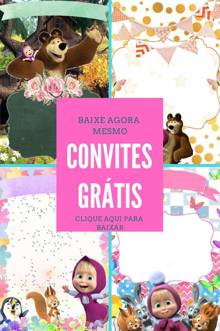 10 Convite Masha E O Urso Para Baixar Masha E O Urso Festa