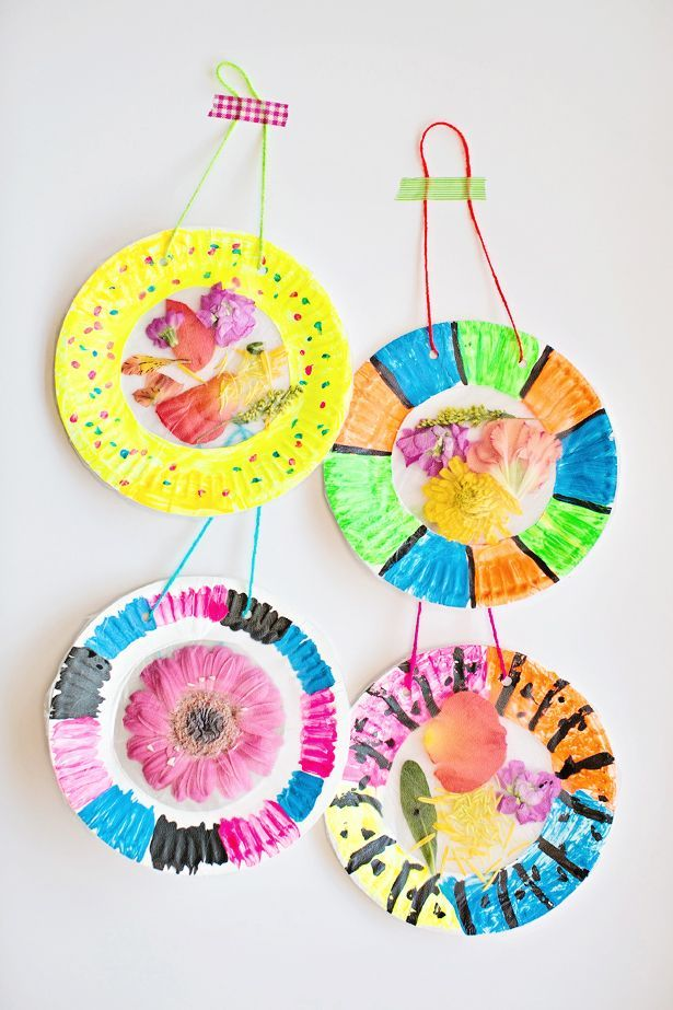 COLORFUL AND EASY FLOWER SUNCATCHER CRAFT | kids Craft ...