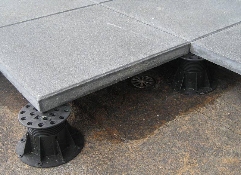 Concrete Paver Over Pedestal Close Up Concrete Pavers Concrete Mosaic Wall Tiles