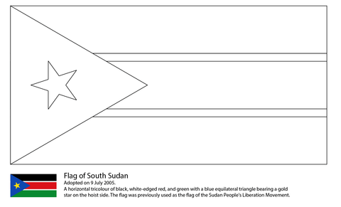 Flag Of South Sudan Coloring Page Flag Printable Coloring Pages