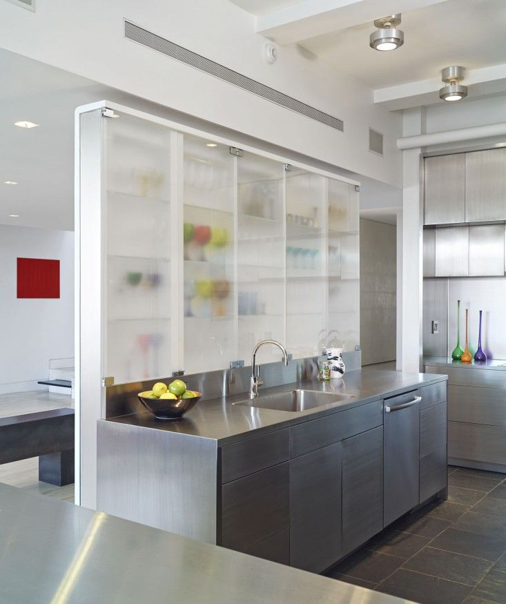 The Architect Is In: The Twice Designed New York Loft | Stainless Steel  Island, Loft Kitchen And Burnham
