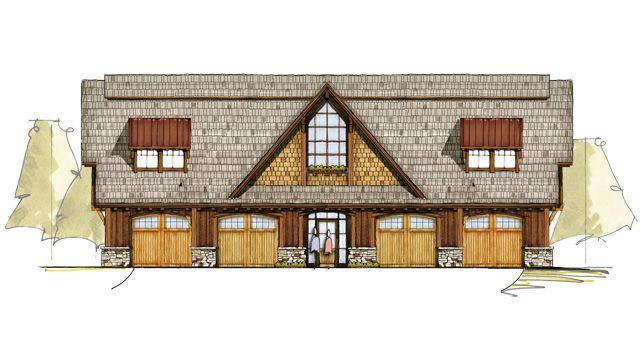 Four oaks carriage house timber frame house plans for Carriage garage plans