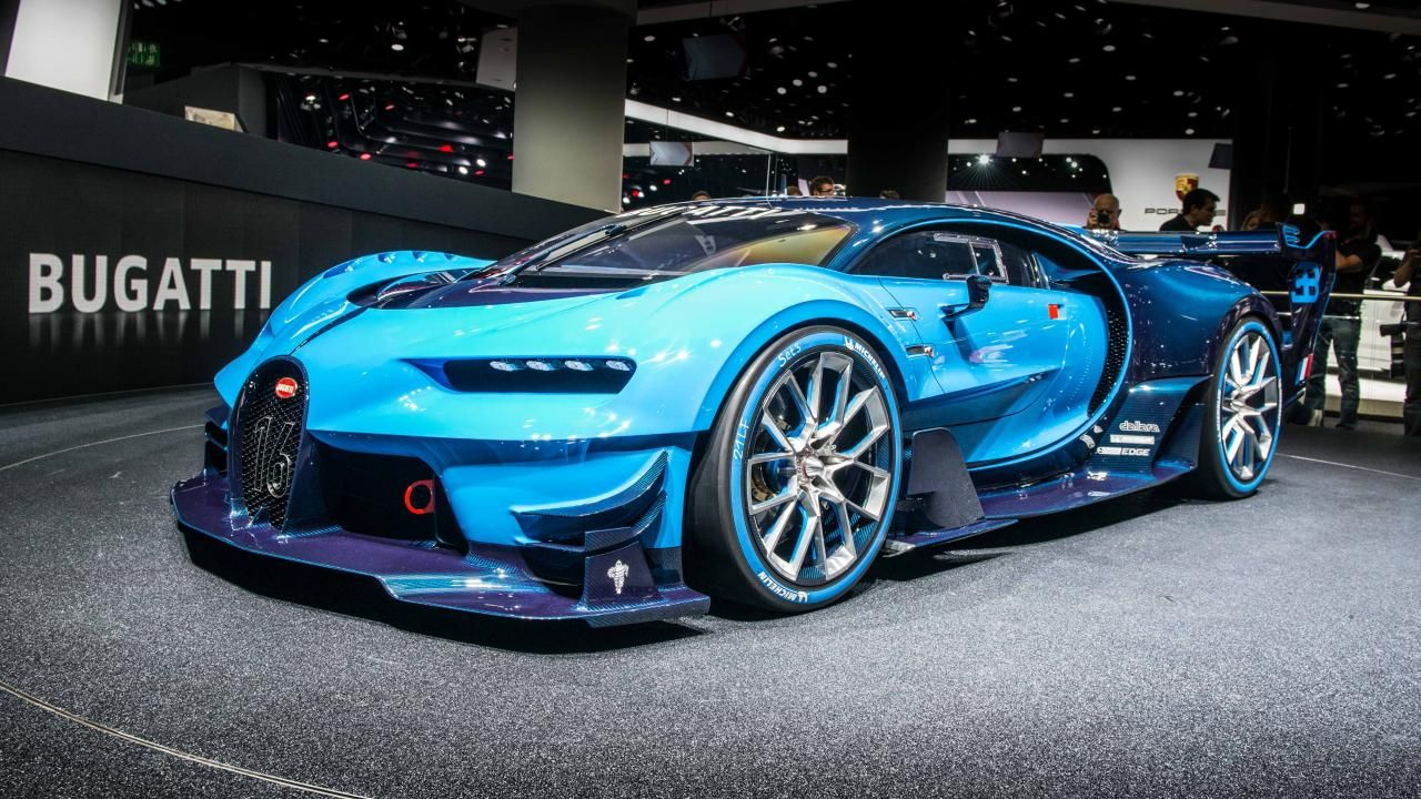 This is the Bugatti Vision Gran Turismo, and it'll do