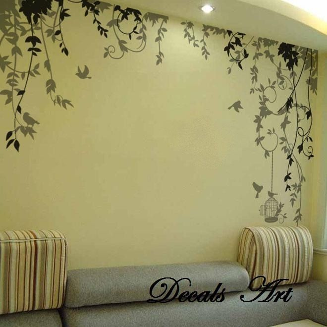 Vines Vinyl Wall Sticker Wall Decal Tree Decals Wall Murals - Wall stickers art