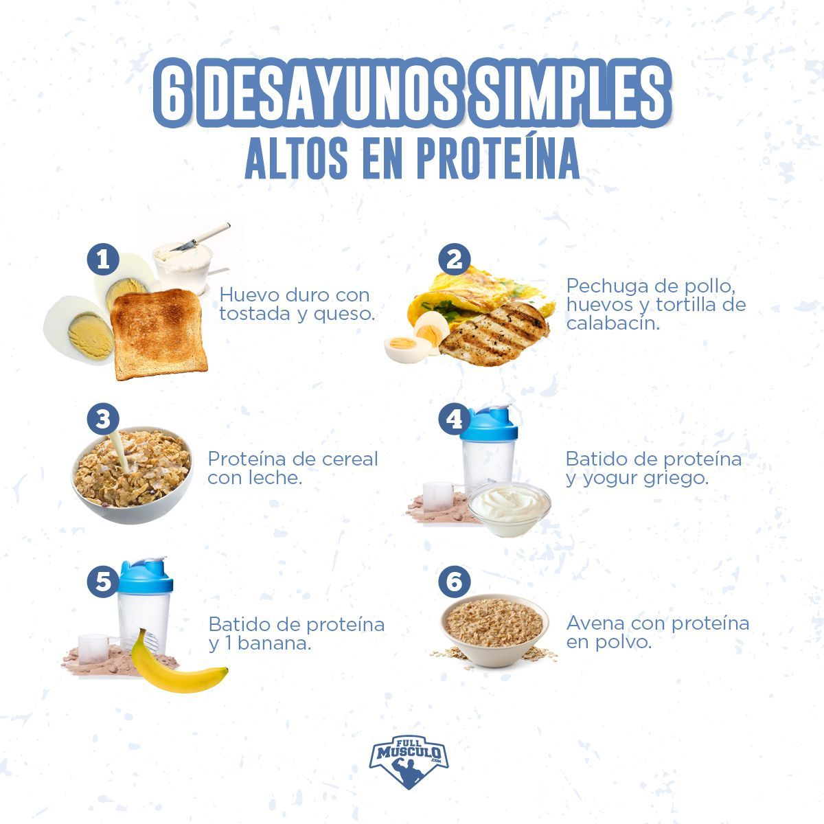Wir geben Ihnen 6 Rezepte, damit Sie sich zu Hause ein paar einfache Frühstücke mit viel Eiweiß zube...
