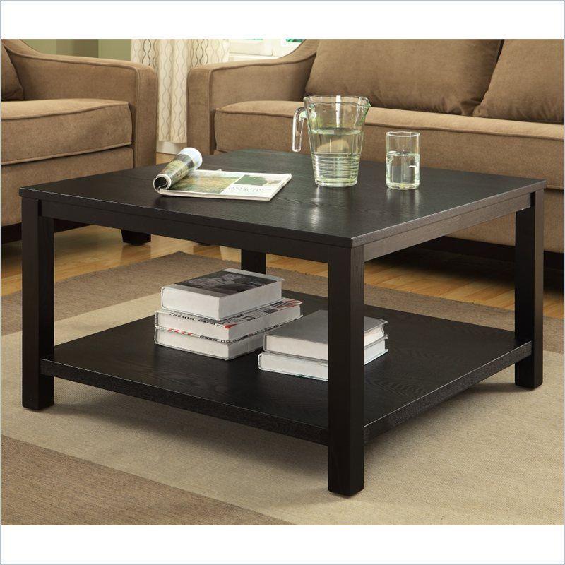 Work Smart Merge 30 Square Coffee Table Black Finish Coffee