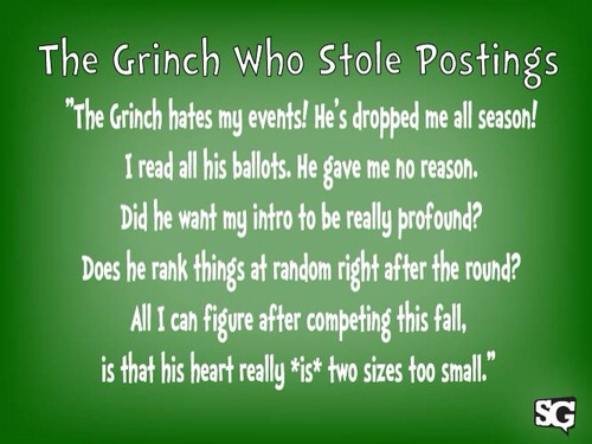The Grinch Who Stole Postings