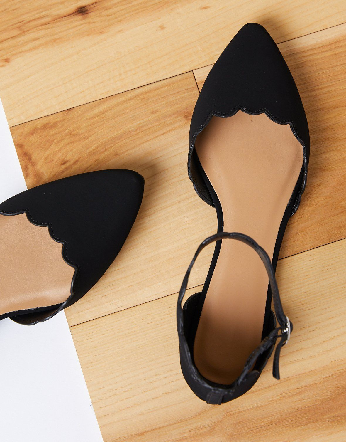 Ankle strap flats, Pointed toe