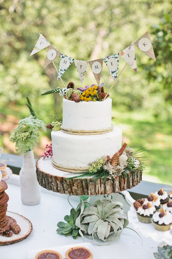 Camp Themed Baby Shower With Cute Natural Wood Details