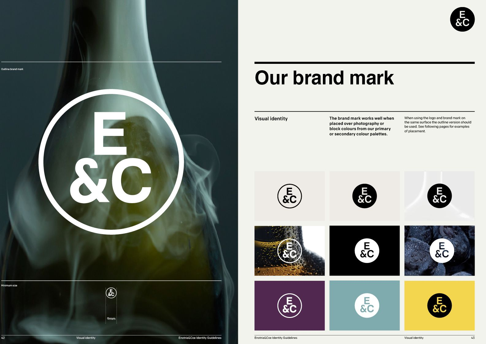 Enotria Brand Guidelines by Spinach Branding Agency London