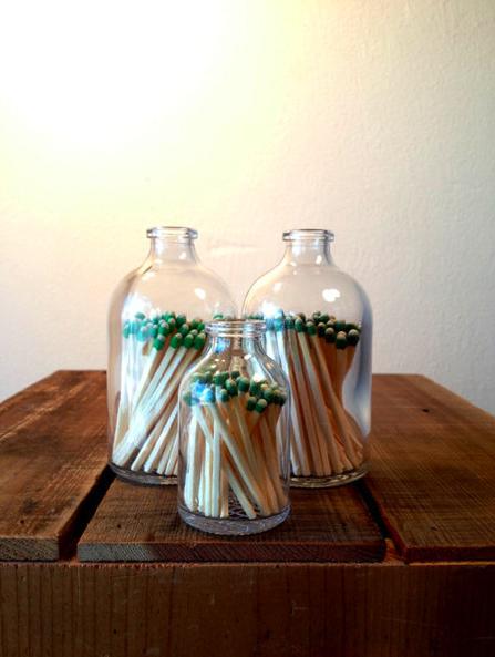 thesupergoodlooking:    Matchstick Bottle @ Atomic Garden