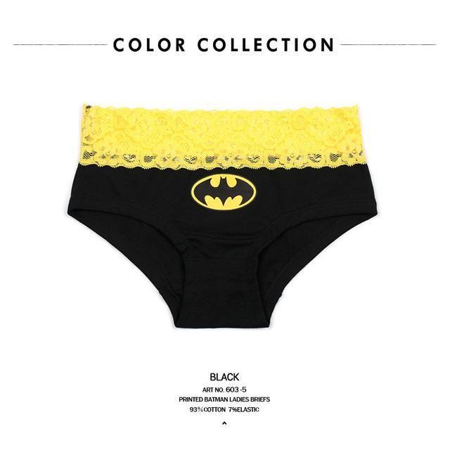 e3f615718224 Cartoon Batman Superman Printed Couple Panties Underwear Men Women Panties  Lingerie Male Lady Lovers Valentine's Day Presents