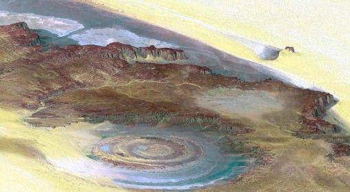 Sahara Eye. Sahara Desert