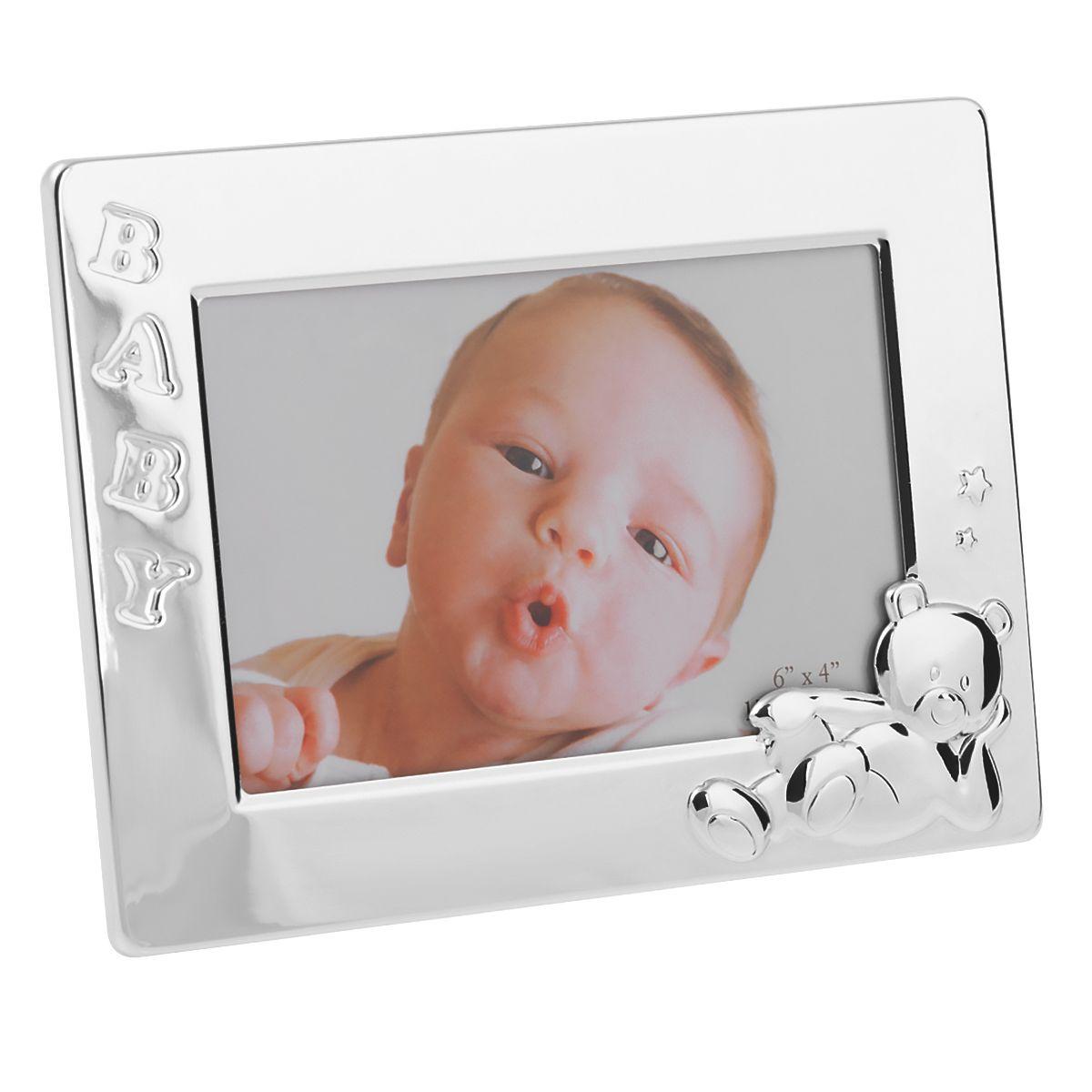 Ramka Z Misiem Baby 10x15cm Chrzest Roczek Grawer Ramka Babe Polar