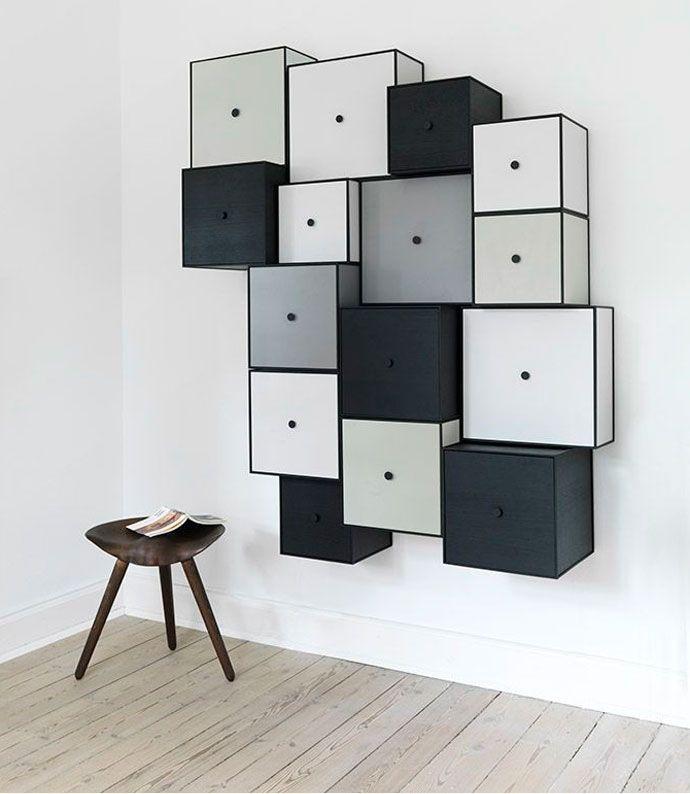 Tendance d co 12 rangements muraux hyper graphiques design mobilier pinterest et for Deco mobilier design