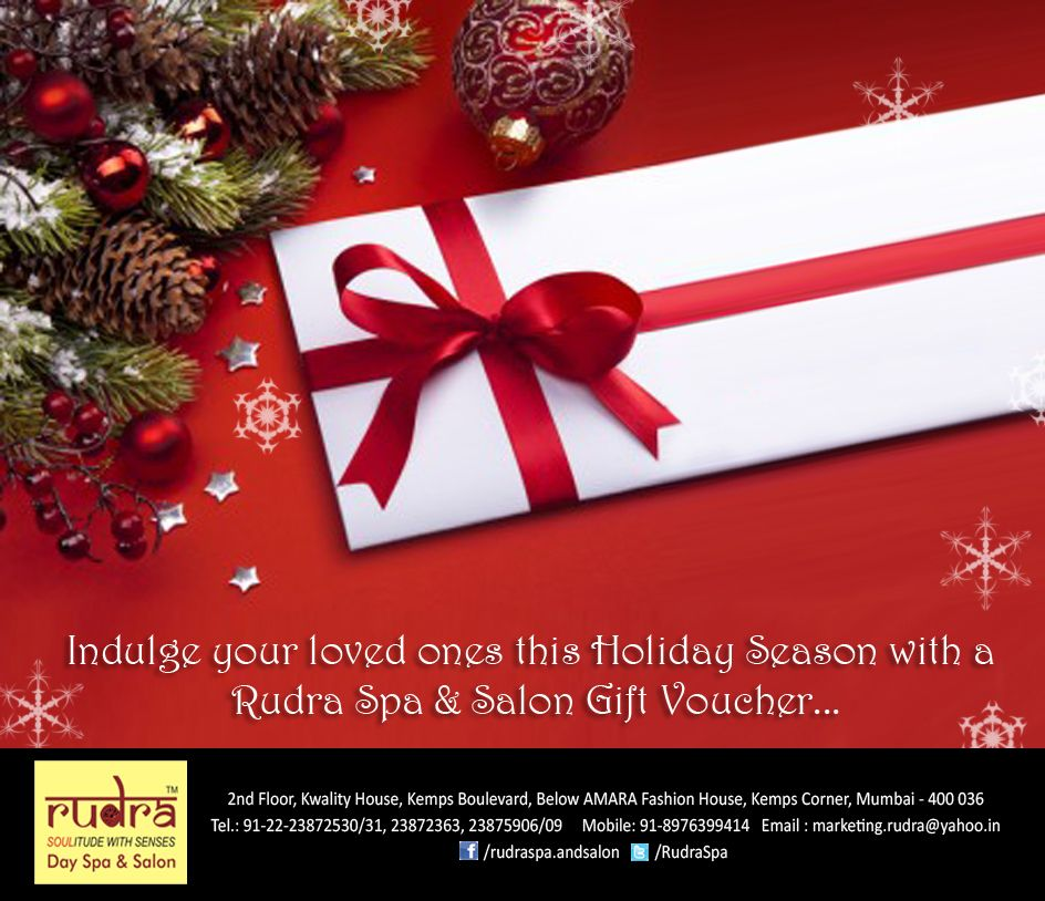 Rudra presents Christmas Gift Vouchers for your loved ones Offers