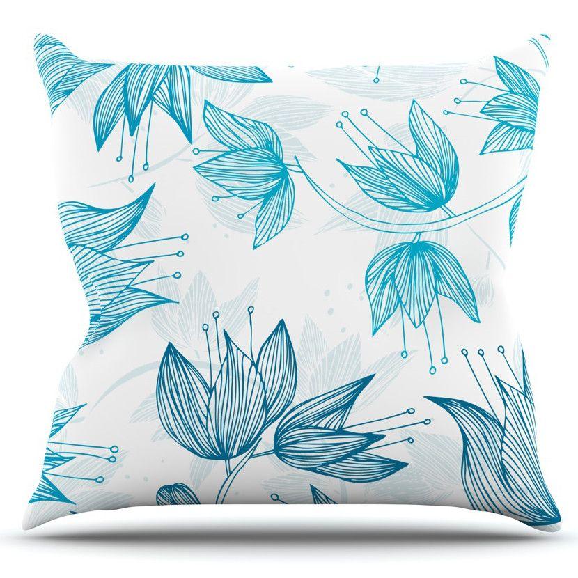 Biru Dream by Anchobee Outdoor Throw Pillow