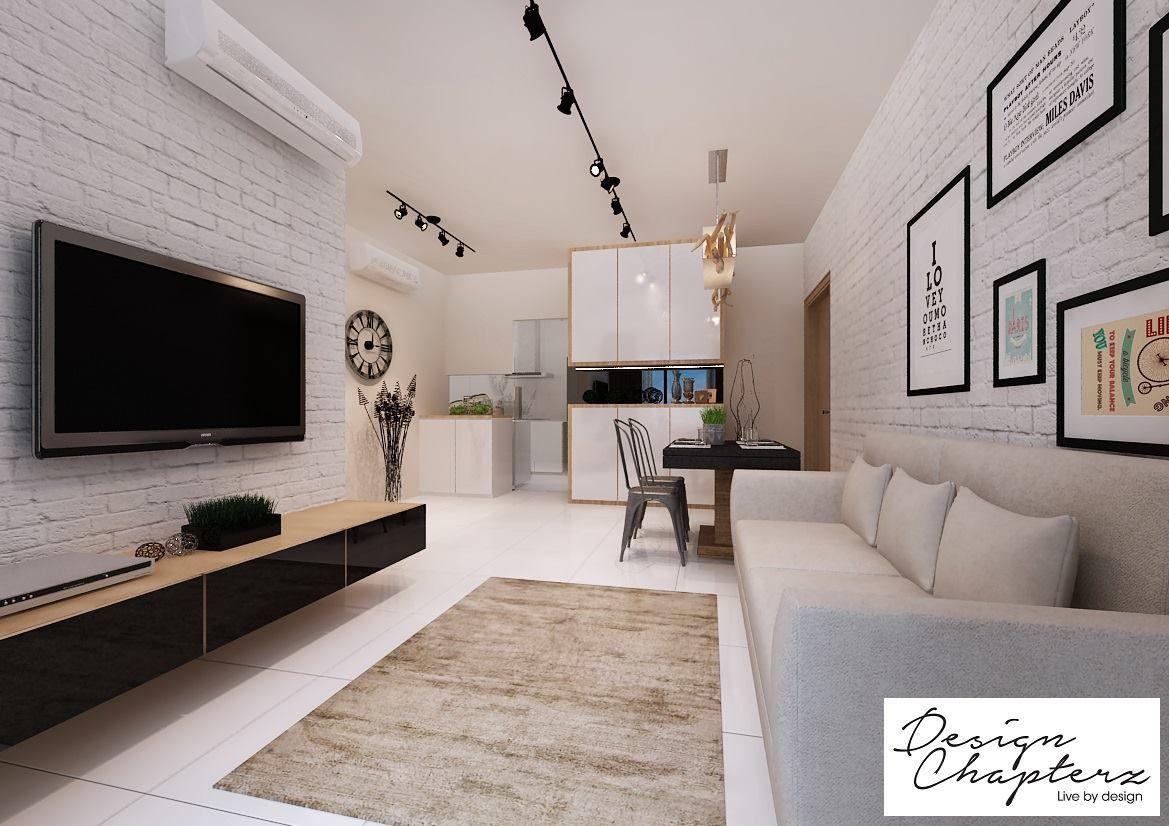 hdb modern scandinavian @ blk 169b punggol field - interior design