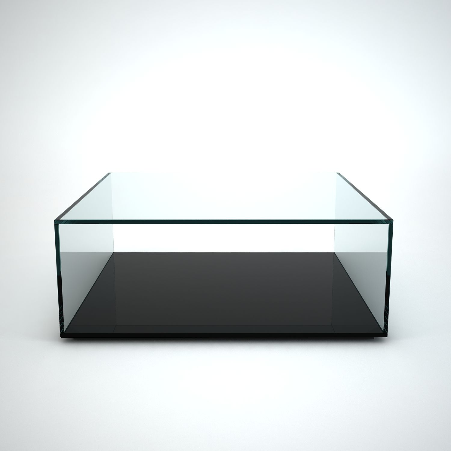 Quebec Square Glass Coffee Table by Klarity - Klarity