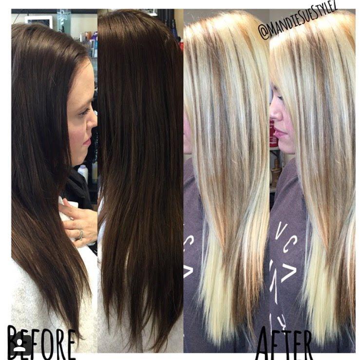 Brunette Goes Blonde No Damage Olaplex One Sitting Educational Tutorial Hair Brunette To Blonde Hair Makeup