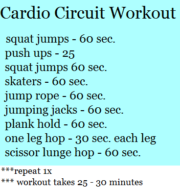 At home cardio circuits