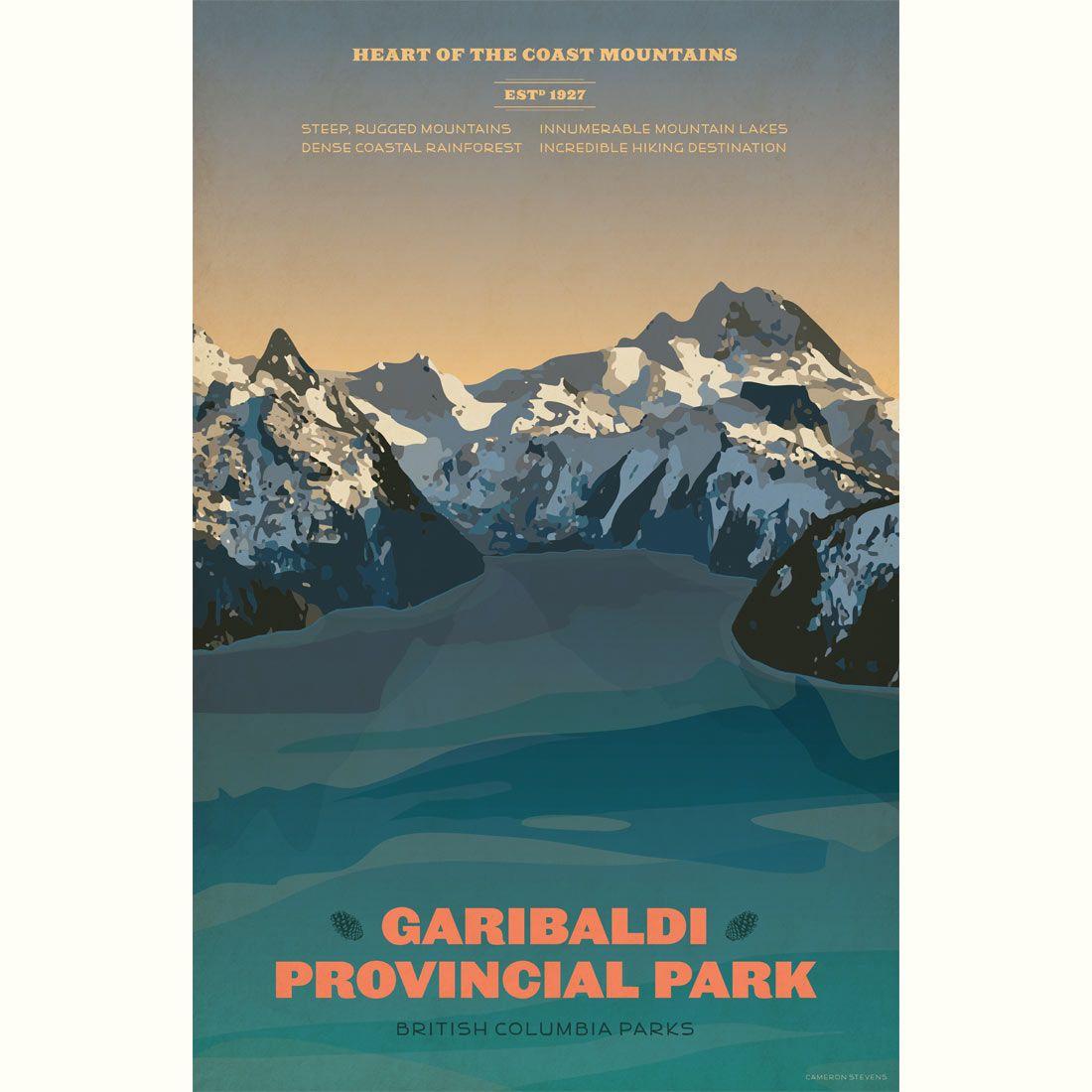 Garibaldi Provincial Park poster Garibaldi Provincial Park