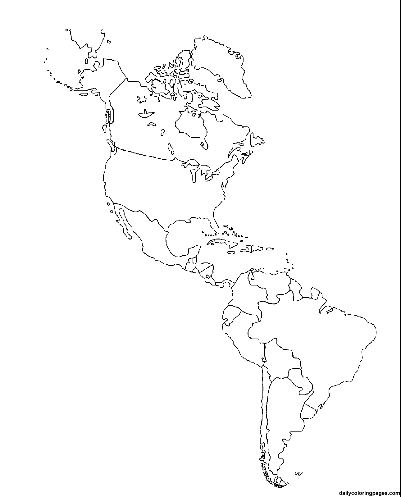 America Map, Flag Coloring Pages, South