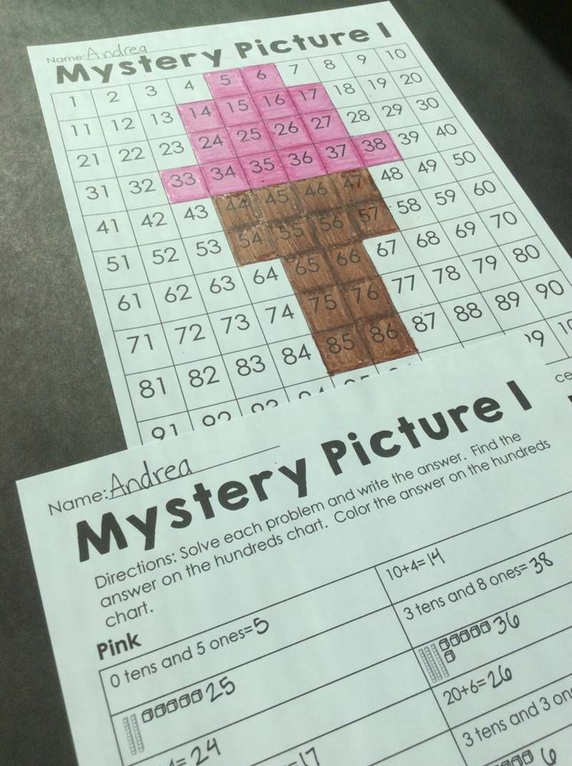 Summer place value mystery pictures- Students use the key to answer ...