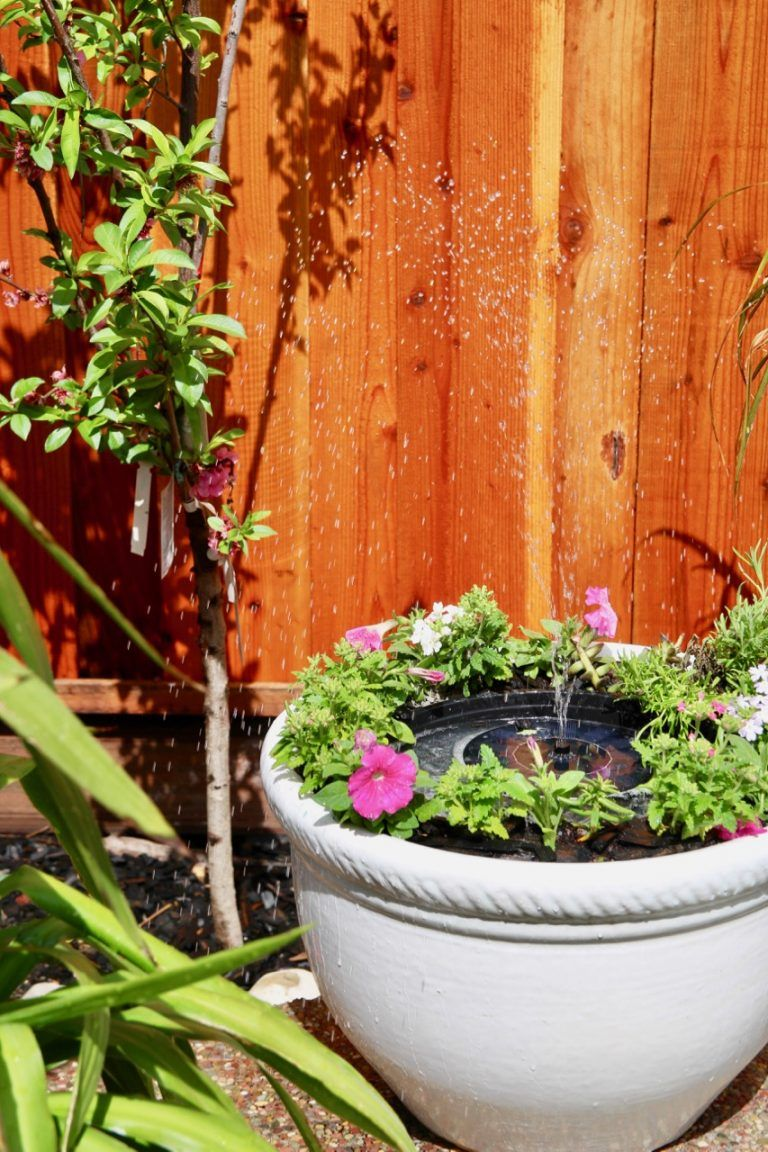 How to make your own backyard solar water fountain patio