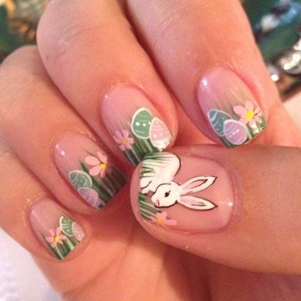 Adorable Easter Nail Art Examples Easter Nails Pinterest