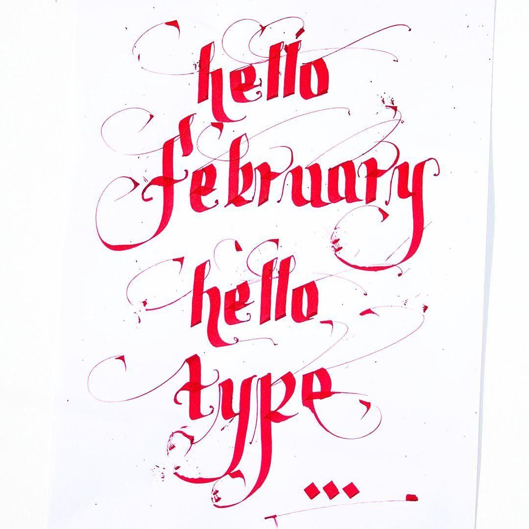 Hello February, Hello Type ✌️✏️ #calligraphy