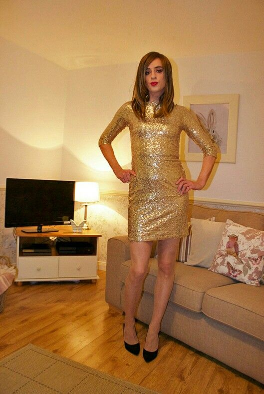 Gorgeous Crossdresser In A Dress 1 FEMULATE