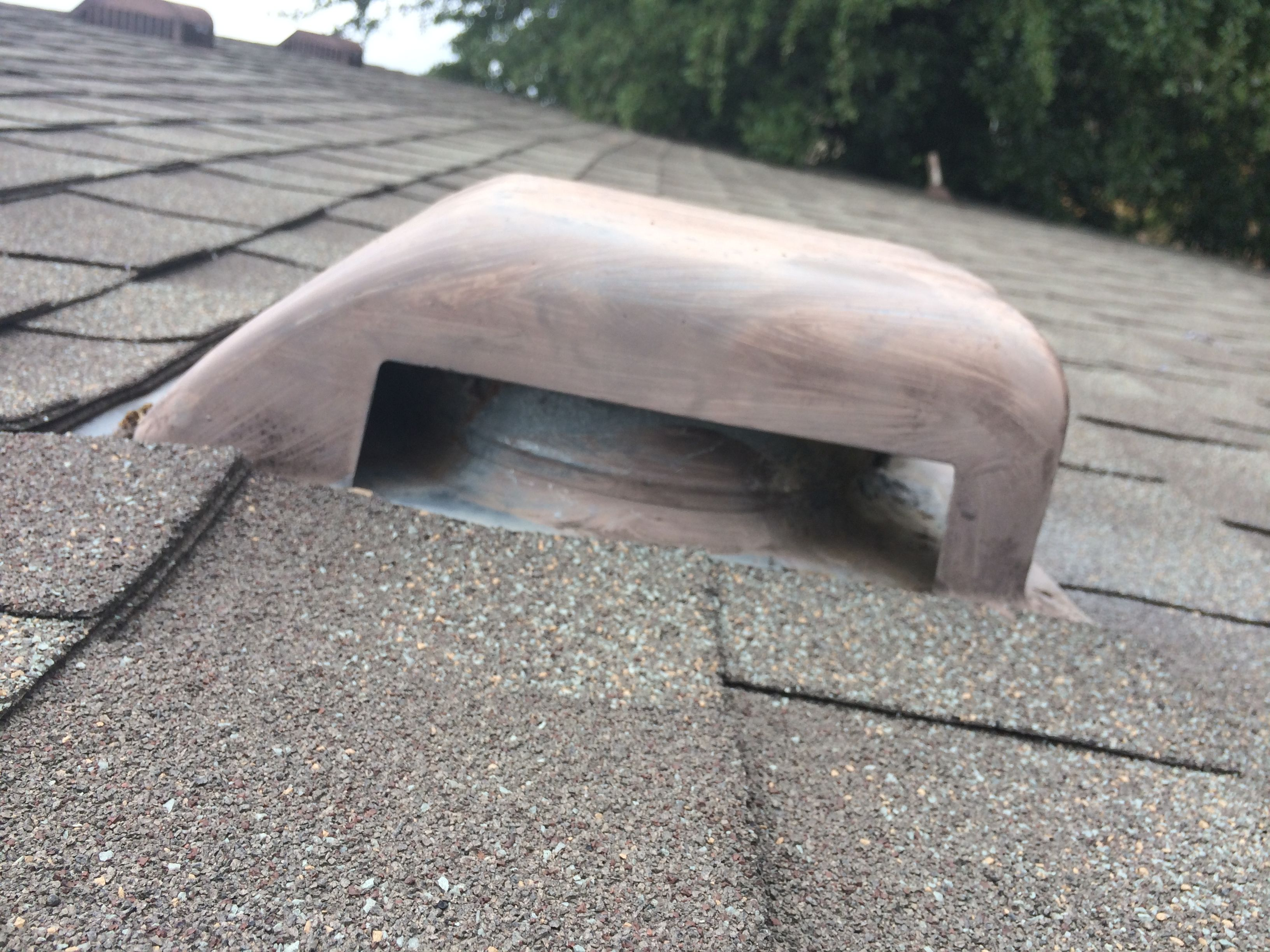 The Same Dryer Vent Roof Cap After Being Cleaned, Check The Next Photo For  The
