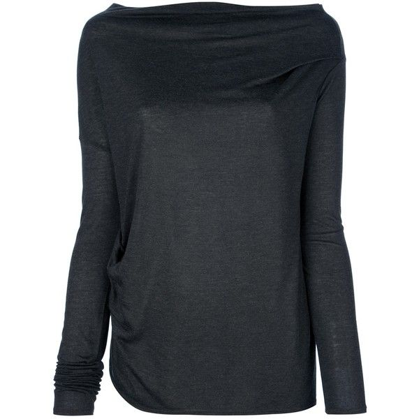 HELMUT LANG asymmetrical t-shirt ($150) ❤ liked on Polyvore