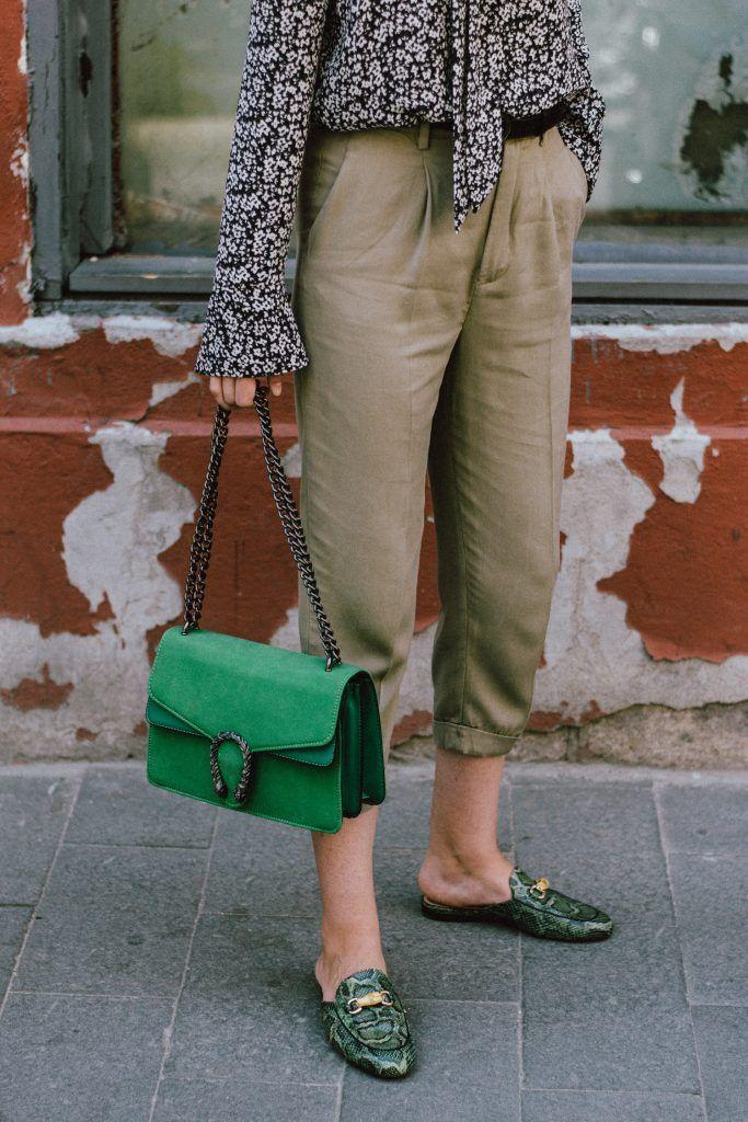 17839b06b6d6d1 Zara tailored khaki trousers, mango floral tie front blouse, gucci double G  buckle belt, gucci black leather popular belt, gucci trending belt for  women, ...