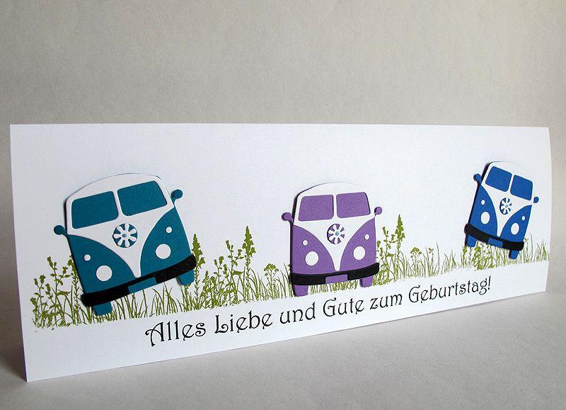 Glückwunschkarten   Riesige Geburtstagskarte, 30. 40. 50, VW Bulli