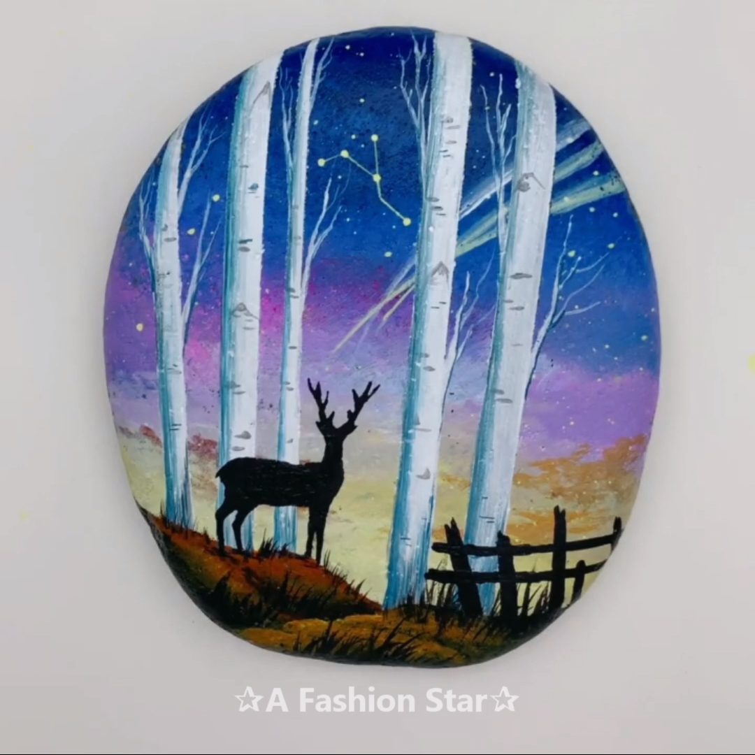 7 Rock Painting Ideen für Inneneinrichtungen - DIY Rock Art - Deer