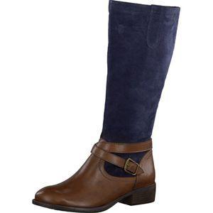 Tamaris Schuhe Stiefel COGNNAVY SUED Art.:1 1 25623 21458