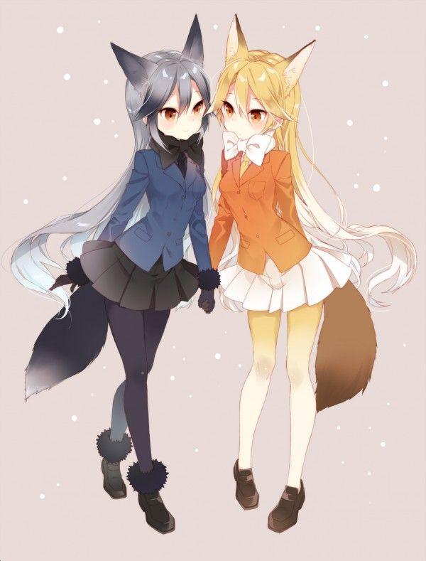 Kemonofriends Renards Dessin Fanart Naoto Manga Anime Fille