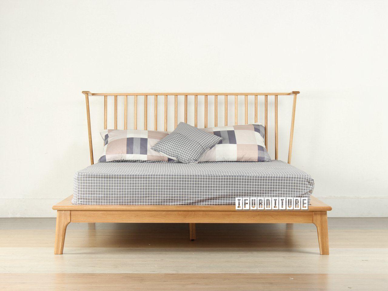 HELSINKI Solid Oak Queen Size Bed , Bedroom, NZ's Largest
