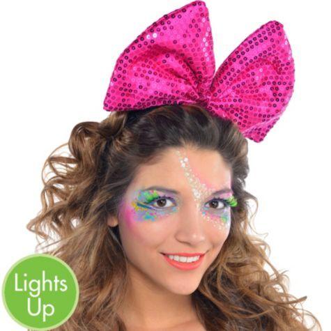 Light-Up Sequin Bow Headband - Party City  4dd8fdcd6f1