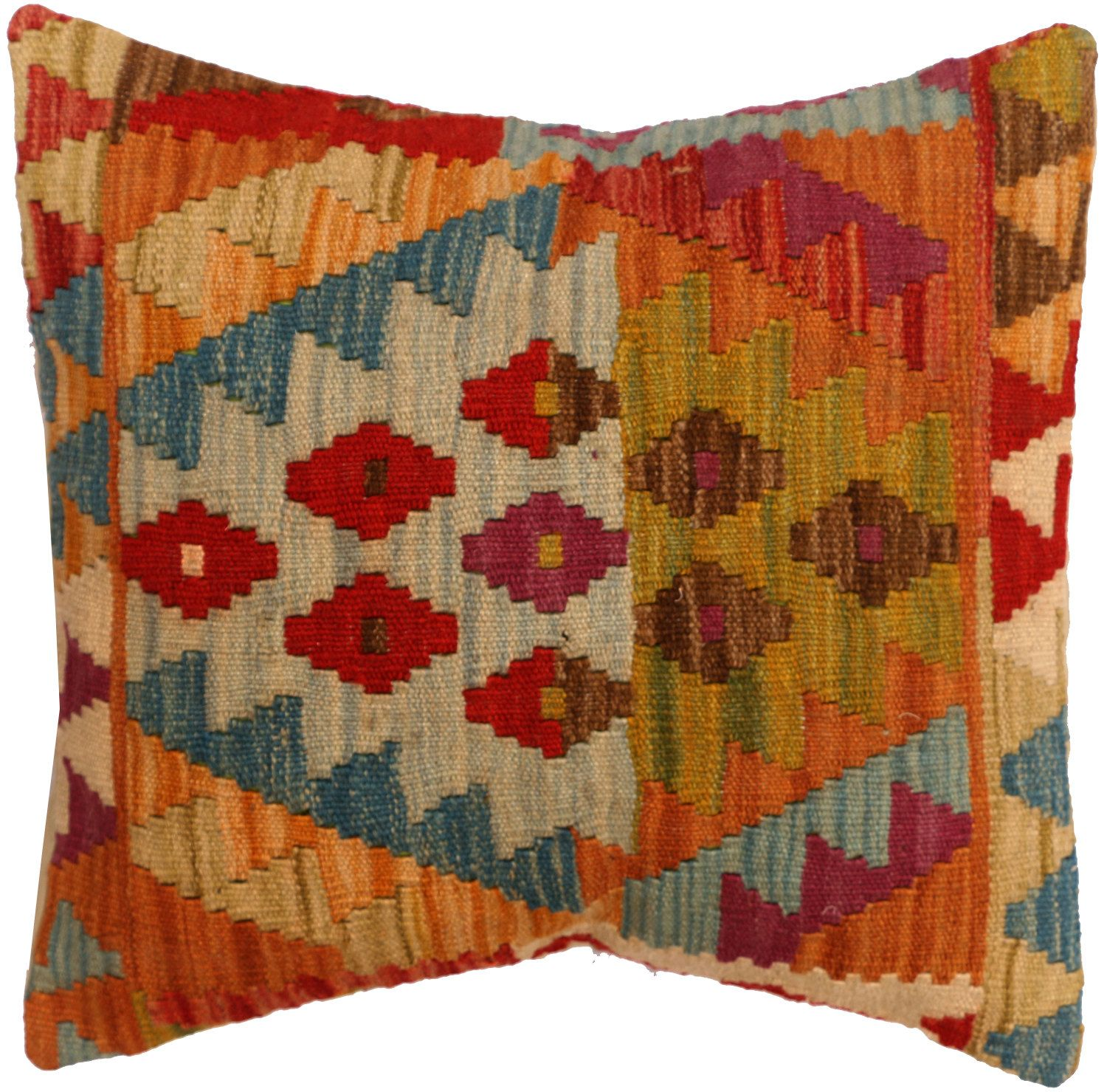 Handmade kilim cushion cover 48x48cm,P #332 by WitcheryRugs on Etsy